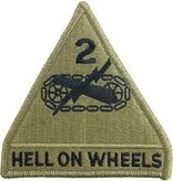 No Shine Insignia 2nd Armored Division Patch