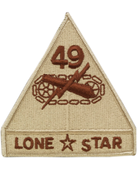49th Armored Division Patch