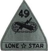 No Shine Insignia 49th Armored Division Patch
