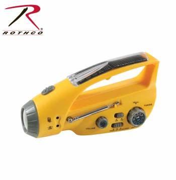 Rothco Solar/Wind Up Flashlight with Radio
