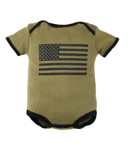 US Flag Onesie