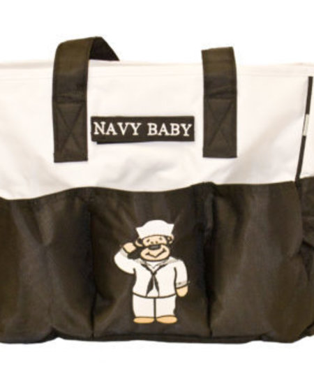 Navy Diaper Bag with Changing Pad