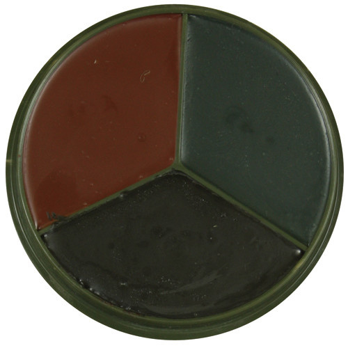 Fox Outdoor Products 3 Color Face Paint - Woodland Camo