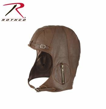 Rothco WWII Style Leather Pilots Helmet