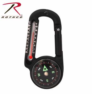 Rothco Carabiner Compass/Thermometer