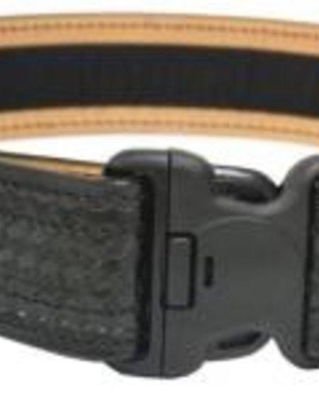 """2 1/4"""" Basketweave Leather Duty Belt"""