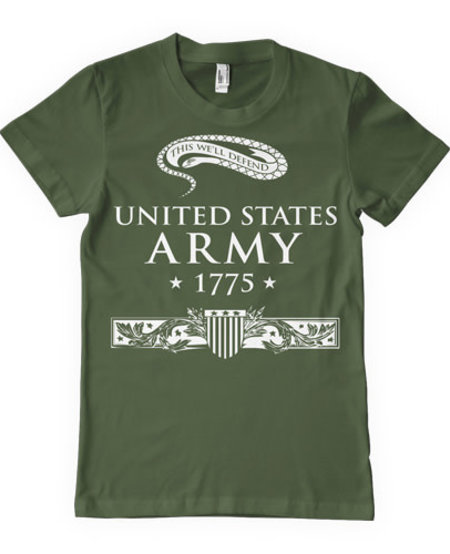 """United State Army """"This We'll Defend"""" T-Shirt"""