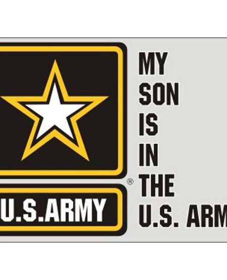 My Son is in the US Army with US Army Star Logo