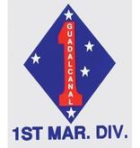 Mitchell Proffitt Marine 1st Division Decal