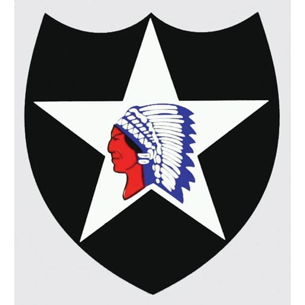 Mitchell Proffitt Army 2nd Infantry Division Indian Head Decal