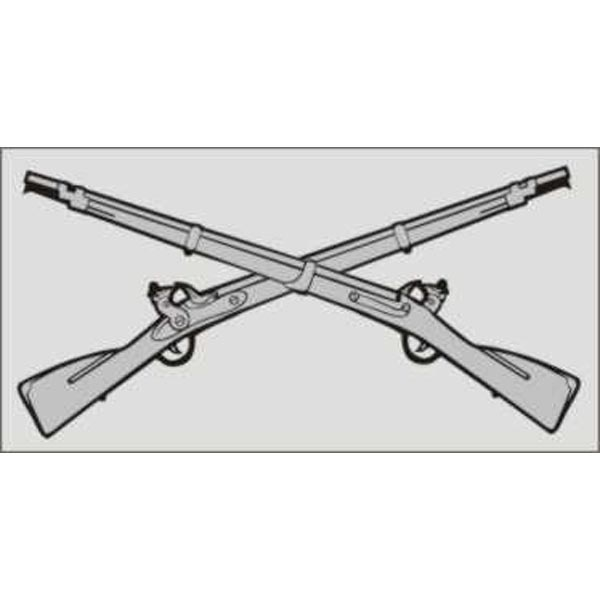 Mitchell Proffitt Infantry Crossed Rifle Decal