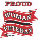 Mitchell Proffitt Proud Woman Veteran Decal