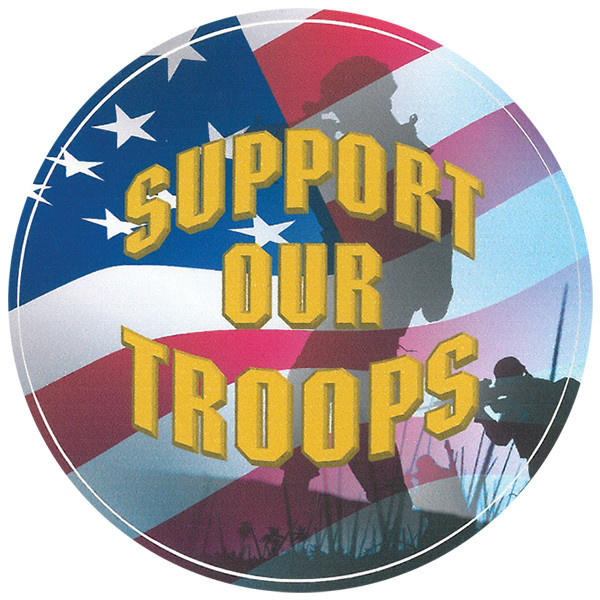 Mitchell Proffitt Support Our Troops Decal