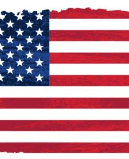 Distressed USA Flag Decal