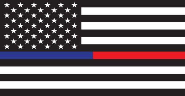 Mitchell Proffitt American Flag Thin Blue & Red Line