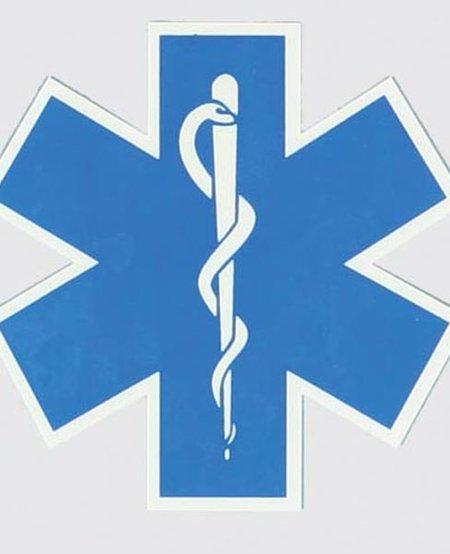 EMS/EMT Star of Life Decal