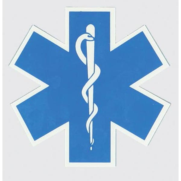 Mitchell Proffitt EMS/EMT Star of Life Decal