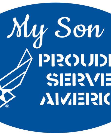 My Son Proudly Serves America Magnet - AF