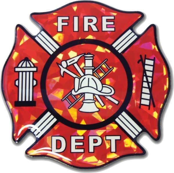 Mitchell Proffitt Fire Fighter Logo Reflective Domed Decal