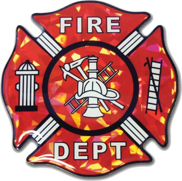 Mitchell Proffitt Fire Fighter Logo Reflective Domed Decal