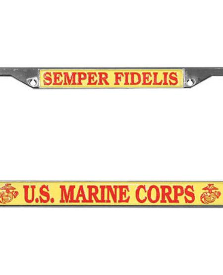 Semper Fidelis U.S. Marine Corps License Plate Frame
