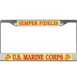 Mitchell Proffitt Semper Fidelis U.S. Marine Corps License Plate Frame