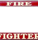 Mitchell Proffitt Fire Fighter Chrome License Plate Frame