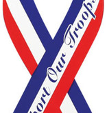 Mitchell Proffitt Support Our Troops Red, White, & Blue Ribbon Magnet 8""