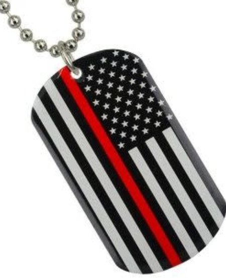 Thin Red Line Key Chain