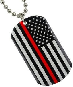 Ramsons Imports Thin Red Line Key Chain
