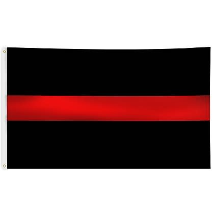 Ramsons Imports Thin Red Line 3 x 5 Flag