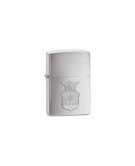 Zippo Air Force Crest Lighter - Brush Chrome