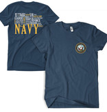 Fox Outdoor Products Navy Words T-Shirt
