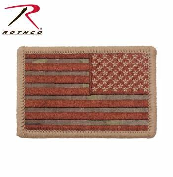 Rothco Iron On/Sew On Embroidered US Flag Patch