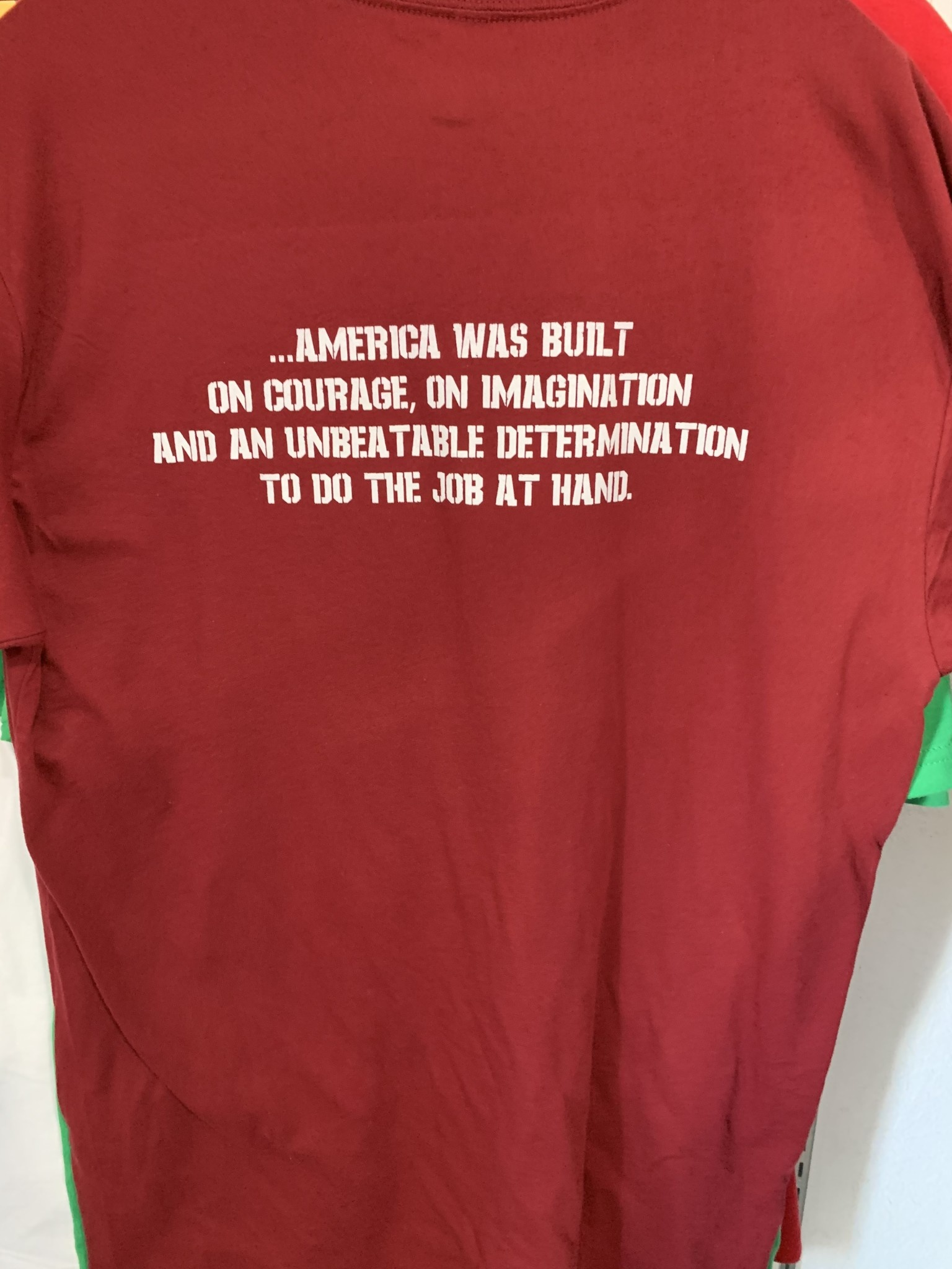 Gear Up AMERICA WAS NOT BUILT ON FEAR Gear Up T-shirt