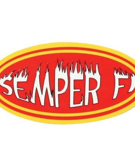 """Semper Fi Reflective Decal (3.5"""" x 1.75"""")"""