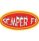 """Mitchell Proffitt Semper Fi Reflective Decal (3.5"""" x 1.75"""")"""