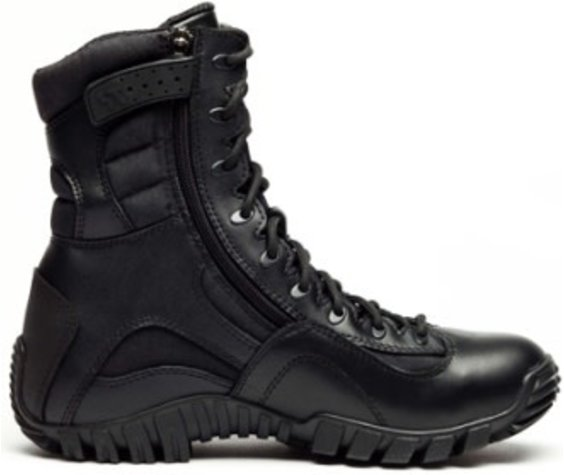 """Tactical Research Khyber TR960Z WP - Waterproof Lightweight Side-Zip Tactical Boot - Black - 8"""""""