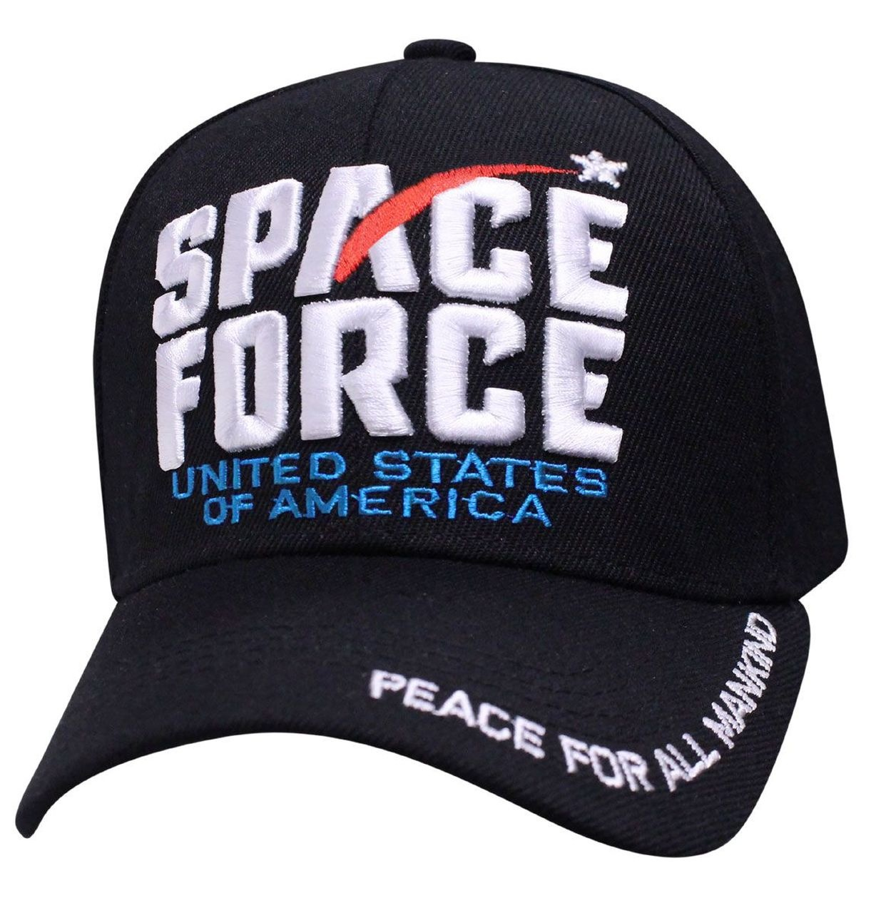 Cap Smith Space Force USA - Peace for All Mankind 3D Hat