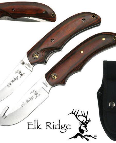 "Elk Ridge 8"" Hunting Knife and Folding Knife Combo"