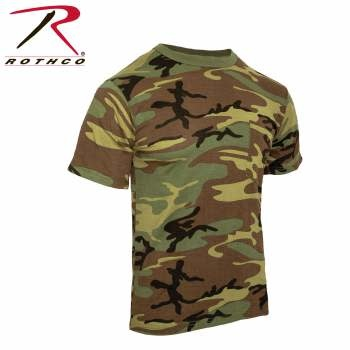 Rothco Woodland Camo T-Shirt w/Pocket