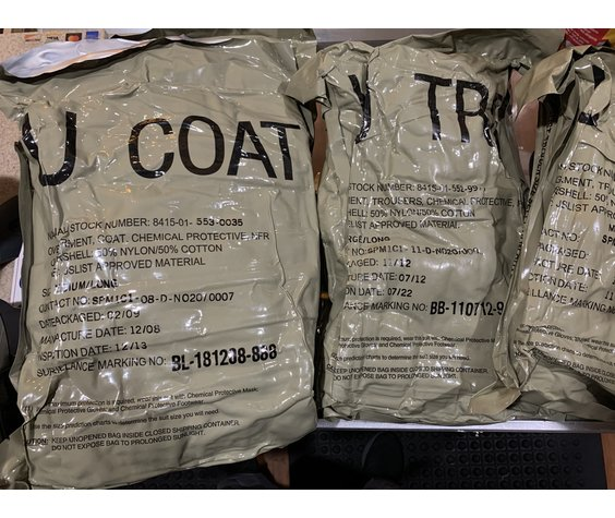 Military Issued Chemical Protective Suit