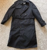 Military Issued Black Trench Coat with Liner - Size 20R
