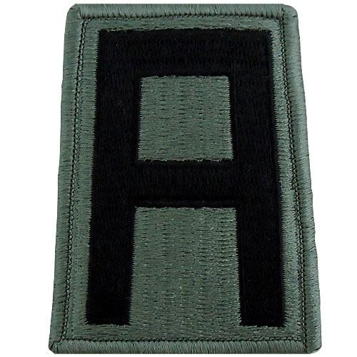 No Shine Insignia 1st Army Patch