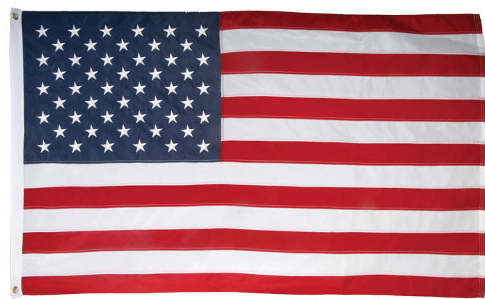 Ramsons Imports USA Cotton 3 x 5 Embroidered flag