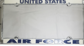 Ramsons Imports US Air Force Metal License Plate Frame
