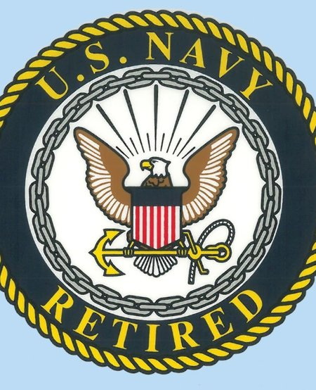 """US Navy Retired 4"""" Decal"""
