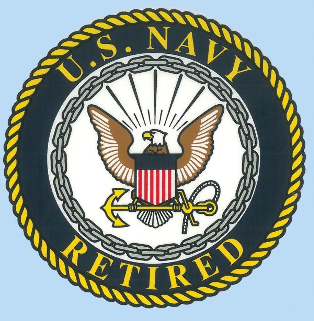 "Mitchell Proffitt US Navy Retired 4"" Decal"
