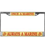 Mitchell Proffitt Once a Marine Always a Marine License Plate Frame