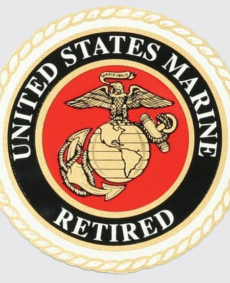 US Marine Retired Window Decal